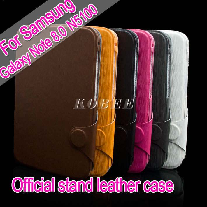 Offical leather Stand case for Samsun Galaxy Note 8.0 N 5100 with Credit cards holder(China (Mainland))