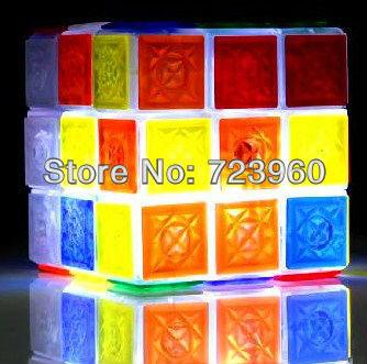 On Sales Glaring LED Light Novel Brain Teaser Magic Cube IQ Puzzle Toy