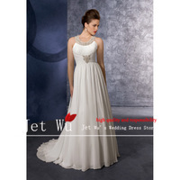 2013 new arrival sexy a-line floor-length court train beaded crystal off the shoulder chiffon wedding dress free shipping