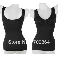 Cheap Black Tummy Control Body Shaper Camisole Solid Tank Top Vest No Bra Shapewear Free Shipping