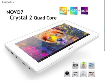 2013 Ainol novo7 Crystal quad core tablet pc android 4.1 1GB DDR3 /8GB hdmi wifi camera