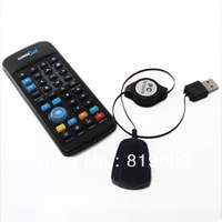 Fashion Black PC Laptop IR Remote Control Controller With USB Receiver Free Shipping 740069