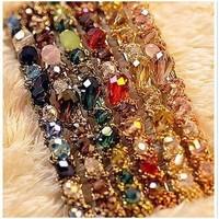 South Korea imported Hair Barrette Korean colorful irregular crystal edge clamp!#1386