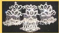 Wholesale Bulk 12pcs New Mix Rhinestone TIARA Crowns    free shipping
