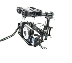Brushless motor Control Gimbal PTZ Camera Mount for Card Camera Gopro ILDC FPV(China (Mainland))