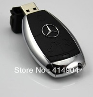 Wholesale 1pc/lot hot plastic mercedes benz usb flash drive 1gb 2gb 4gb 8gb 16gb memory stick cartoon pen drive chrismas gift
