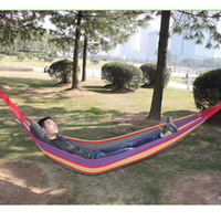 Color stripe single hammock outdoor 200*80cm hammock swing hand bag lashing
