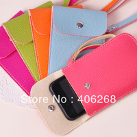 free shipping wholesale cheap!! leather  mobile phone bag mobile phone case cell phone pocket
