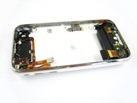 White Full Back Cover Housing+Silent Mute Volume Button+Antenna Headphone Microphone Audio Flex Cable Ribbon for iPhone 3GS