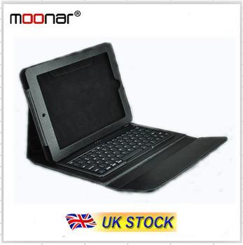UK Stock Mini Folding Wireless Bluetooth USB Keyboard & PU Lether Cover Case For ipad 1/2/3 SIlicone keyboard UKDA00049 -20