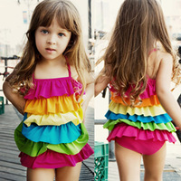 Hot-selling child swimwear for 2013,one-piece dress girl child swimwear baby swimwear female bb01