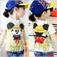 Free shipping the new 5 PCS/a lot of boys and girls of the Mickey Mouse T-shirt to wear short-sleeved summer clothing