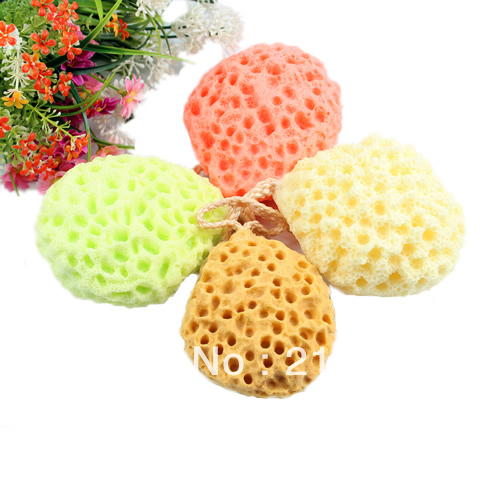Wholesale&Retail Bath Scrubber Shower Spa Sponge Body Cleaning Scrub Free Shipping(China (Mainland))