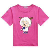 Happy child short-sleeve T-shirt girls clothing male child summer short-sleeve half sleeve cartoon