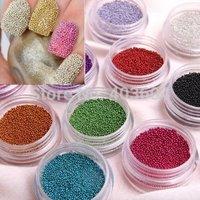 Fashion Caviar Nail Art set New 12 Colors Plastic Beads Manicures or Pedicures Nail Art Decoration Hot Sales