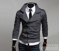 2013 New Arrived Men's Hoodies Autumn Silm Jackets for men Zip Men's Coat plus size M L XL XXL YC13