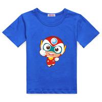 Happy baby male child summer short-sleeve T-shirt children's clothing super man child summer cotton short-sleeve 100% baby