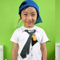 Baby summer short-sleeve T-shirt male child summer big clothing tie 100% cotton