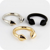 0279 Min order is $8 ( mix order ) Fashion Jewellery Vintage Exaggerated Rivet Arrows Finger Ring For Women