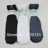 10pairs/lot Men Summer Socking Spring Polyester Ankle Socks black/gray/white Promotion Sell