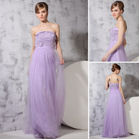 Free shipping 2013 fashion ladies evening dress ball gown designer girls ceremony party chiffon wedding prom satin dress purple