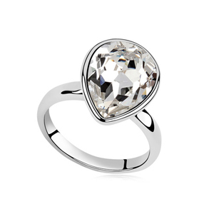 100% Austria Crystal Rings Platinum Plated---GIRL'S LOVE(China (Mainland))