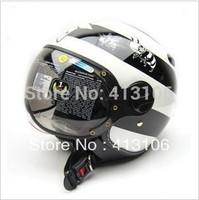 Free shipping/Motorcycle helmet/Jet helmet/ retro 3/4 half helmet/Zeus helmet/ZS-210C/ MOMO style helmet/White bee