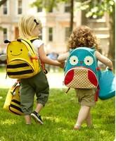 free shipping 2014 Kindergarten baby's shoulders bag lovely cartoon school bag children's cute catoon rucksacks children bag