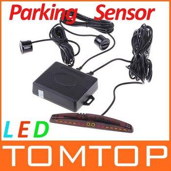 LED Display Car Parking sensor system Car Parking Reverse Backup Radar System+4 sensors,Free Shipping Wholesale