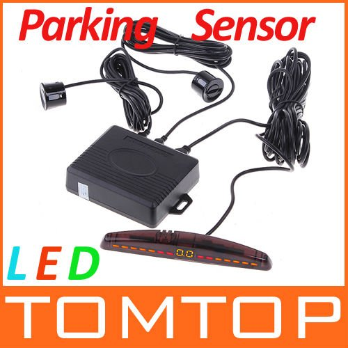 LED Display Car Parking sensor system Car Parking Reverse Backup Radar System+4 sensors,Free Shipping Wholesale(China (Mainland))