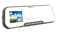 "Dual Camera Rear View Mirror Car DVR with External Backup Camera HD 720P H.264 120 Degree Wide Angle 2.7"" LCD G-sensor"