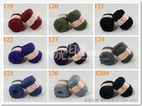 A variety of colors, 6balls/lot 6*50g Bamboo charcoal fiber fine hand knitting wool / crochet hook line in spring and summer
