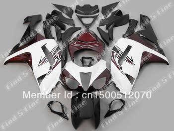 high quality white black for KAWASAKI ZX6R 07 08 ZX 6R 07-08 ZX-6R 2007 2008 2007-2008 ABS fairing kit