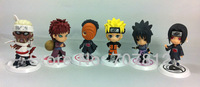 2013 Cute Naruto action figure anime  Figures Sasuke  itachi  Toys  6pcs/set  7.5cm  free shipping hot sale