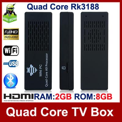 Tronsmart MK908 Quad Core TV Stick With Rk3188 Cortex-A9 1.8GHz 2GB RAM 8GB ROM WiFi Bluetooth IPTV Mini PC Smart Android TV Box(Hong Kong)