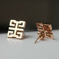 European and American classic big trade earrings female plated 18K rose gold Korean earrings color gold jewelry -079