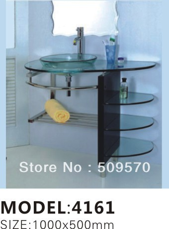 Multilevel supporter Tempred Glass bathroom cabinet(China (Mainland))