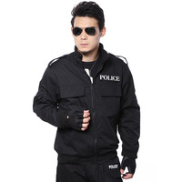 American polic Men black flight cotton jacket thermal fleece outerwear cotton-padded jacket male training uniform