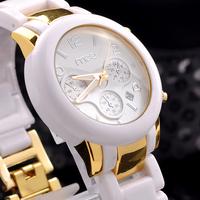white ceramic watch / luxury women watch