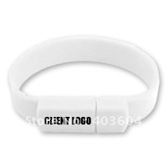 Wrist Band USB Flash Disk 8GB USB 2.0 Flash Drive(white)(China (Mainland))