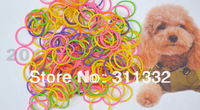 170pcs/bag! Colorful Pet beauty supplies Pet Dog Grooming rubber band Pet hair product