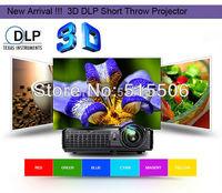 Top light 4500lumens XGA portable Full HD short throw dlp projector,120HZ real dlp link shutter 3D projector.
