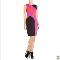 2013 new temperament elegant and stylish stitching Slim was thin dress KC021
