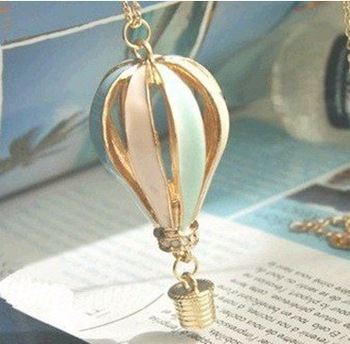 Free Shipping!Min.order is $10 (mix order) Fashion vintage Multicolor Hot Air Balloon Necklaces wholesale!Free shipping!