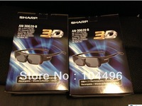 2 X Genuine  3D Glasses For S har p 3D Active Glasses model: AN-3DG20-B AN3DG20 for Sh ar p LCD LED