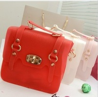 Free shipping--2013 new Korean rivet candy color collision ladies hand bag, fashion tote bag ladies handbag women fur