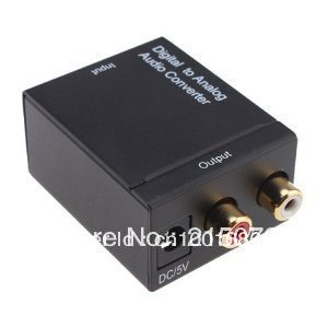 Freeshipping AGPtek Digital Optical Coax to Analog RCA Audio Converter Adapter(China (Mainland))