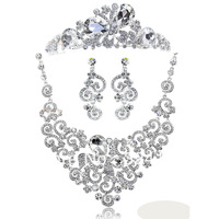 Cheap!! 100% real picture Luxurious bridal jewelry sets best gift for bride hot sale wedding jewelry