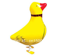 Free shipping 20pcs/lot walking pet balloon helium balloon walking balloon Duck balloon