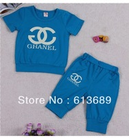 Free Shipping&4 pcs/lot!2013 new kids summer sets,baby boy clothes,korean kids clothes wholesale,clothing sets,baby girl clothes